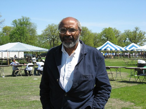Abayomi Azikiwe, editor of the Pan-African News Wire, pictured at the Michigan Roundtable Festival on Belle Isle in Detroit during the summer of 2008. Azikiwe has written extensively on Pan-African and world affairs over the years. (Photo: Alan Pollock) by Pan-African News Wire File Photos