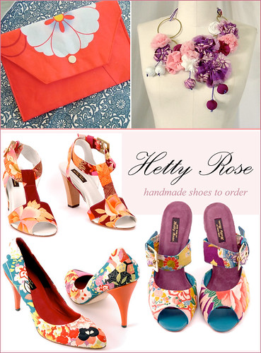 Kimono fabric shoes purse and necklace