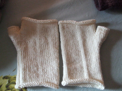 Friendship fingerless mitts