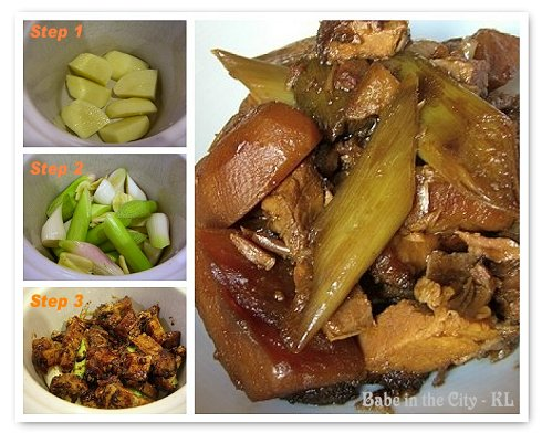 Slow Cooked Siew Yuk with Potatoes and Leek