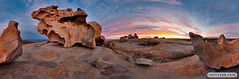 Sunset on the Remarkable Rocks, Kangaroo Island (neilcreek) Tags: sunset panorama holiday rock clouds rocks pano formation top10 hdr kangarooisland remarkable top102009