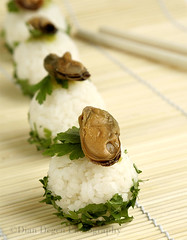 Nigiri Sushi with mussel