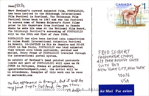 Postcard from Marv Newland