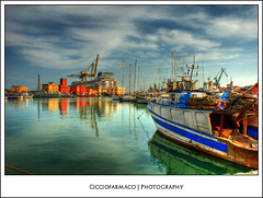 Catania - Reflections at the port :: HDR