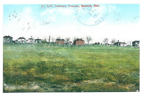 Old Postcard of Lutheran Seminary Grounds in Seward, Nebraska
