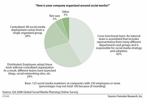 How companies organize for social media