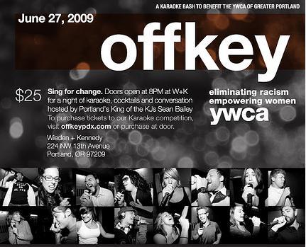 YWCA Offkey benefit, portland