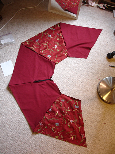 My First Skirt: Panels Pinned & Laid Out