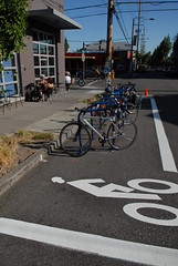 Bike corral on SE 28th at Ankeny-4