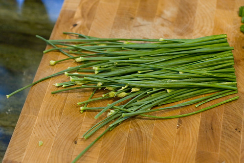 flowering chives picked