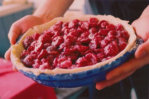 fresh cherry pie before it hit the oven.
