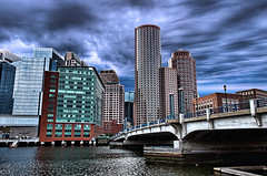 Fort Point Channel (Michael_Underwood) Tags: boston skyline ma cityscape explore hdr fortpointchannel bostonist bostonmassachusetts nikond90 nikon1685vr topazadjust