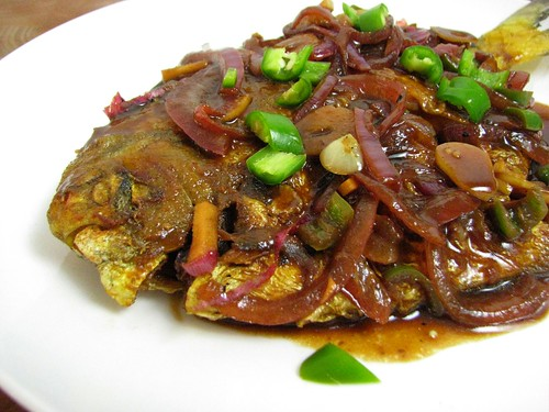 fermented black bean pomfret recipe