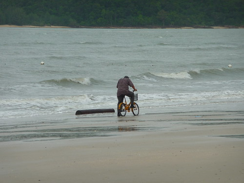 Sand cyclist, Langkawi, Malaysia
