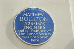 Photo of Matthew Boulton blue plaque