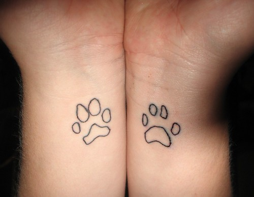 Advanced Search dog paw print tattoos. Cheetah Print Love Tattoo Bag