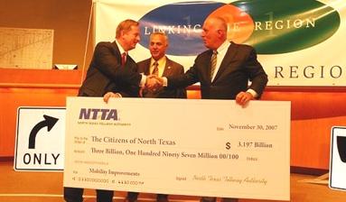 NTTA big check