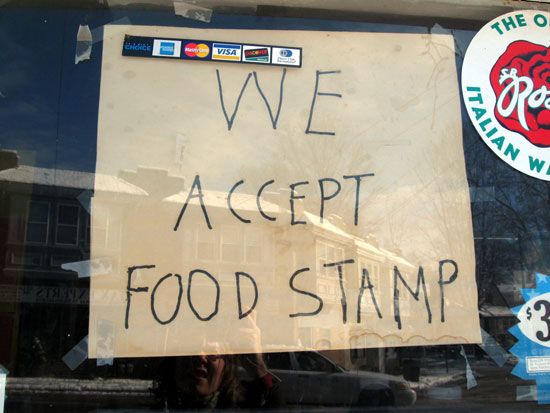 Found - Food Stamp Sign (Click to enlarge)