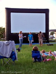 A Movie For My Birthday (Chris C. Crowley) Tags: florida outdoormovie chriscrowley downtowndaytonabeach celticsong22 cinamatique amovieformybirthday giantinflatablescreen