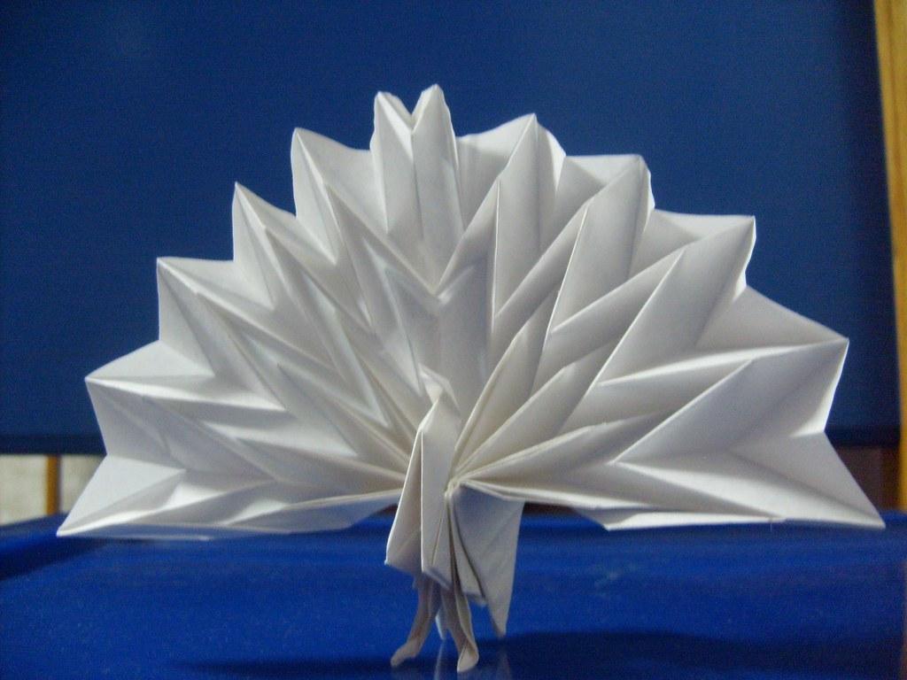 Peacock By Maekawa Jun 2 KeMaL KuRT Tags Paper Origami Folding