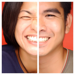 Each Other's Significant Other (Gilbert Rondilla) Tags: camera people woman man color male love me smile face up closeup lady self myself asian photo nikon diptych couple close philippines husband wife getty gilbert filipino tgif notmycamera partner own pinoy gettyimages lookalike borrowedcamera rondilla notmyowncamera gilbertrondilla luisianian gettyimagescollection