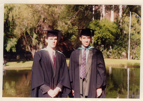 Brian and Daniel on graduation day, 1993