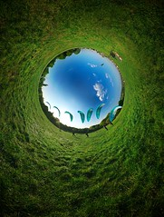 Push the button ~ Explored (edwardhorsford) Tags: park panorama london grass garden flying spring wind little ninja son tunnel panoramic projection heath planet sail paragliding reversed hampstead paraglider stitched parachute stereographic hugin nodal sonofthewinds