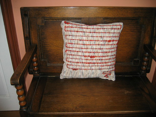 oatmeal and oranges cushion front