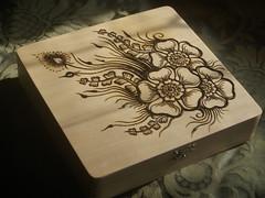 MAy 2011 002 (Dreaming in Henna) Tags: wood design box henna mehndi