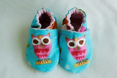 ~SALE~ *0-6 Months*  Girly Owls On A Whim Booties Lined w/ OBV
