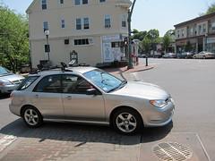 Straddling the crosswalk (Arlington on Foot) Tags: illegal crosswalk arlingtonma