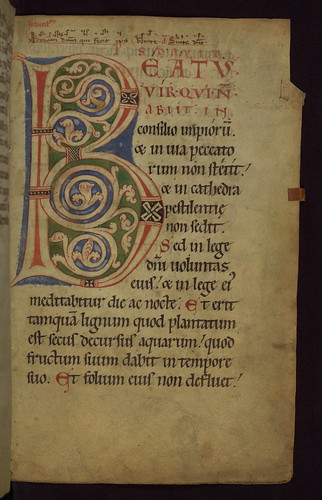Illuminated Manuscript, Claricia Psalter, Walters Art Museum Ms. W.26, fol.11r by Walters Art Museum Illuminated Manuscripts