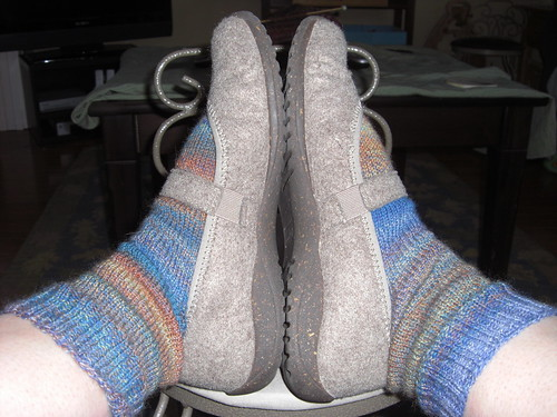 Vanilla Socks with New Wool MaryJanes from LLBean