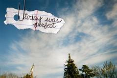 (sssquid) Tags: trees sky film clouds paper perfect secret paperclip