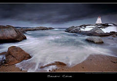 Sandy Cove (Dave the Haligonian) Tags: ocean sea sky canada beach water clouds bay sand rocks novascotia atlantic atlanticocean sandycove maritme terencebay martime nothdr prospectbay dsc6356jpg