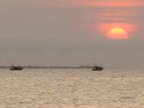 Fishing Boats & Sanya Sunset