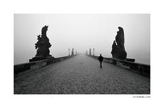 Charles Bridge (Jiri Sebek) Tags: bridge bw photography photo blackwhite fotografie prague prag praha most czechrepublic charlesbridge karlvmost sochy eskrepublika mlha ernobl