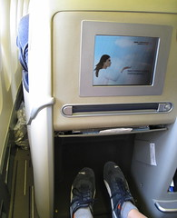 Air France Business Class / Flight 084 () Tags: vacation holiday fashion plane airplane fly inflight airport shoes aircraft flight moda jet style aeroporto aerial 3a parked boeing 12 puma idle aereo 747 airliner vacanze avion airfrance legroom b747 1933 747400 cdg businessclass size12 areo pumashoes 084 airplaneseats insidetheplane airlineseats skyteam  cabininterior lespaceaffaires parischarlesdegaulle  seat3a interiorcabin inflightvideo lemesnilamelot inthecabin stavrosfeet  stavroslegs aeroportdeparischdegaulle daroportsdeparis