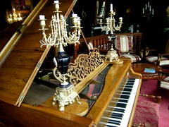 The piano at Hoar Cross Hall (Mystic Ed & Fluffy) Tags: gay vacation england art gaymen countryside candles furniture weekend mirrors statues health ornaments antiques pianos spiritual staffordshire psychics ballrooms statelyhomes pampering candelabras albinoni mysticed hoarcrosshall mysticedfluffy civilrightspartners wwwhoarcrosscouk healthspar