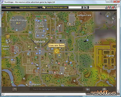 Runescape Map Screenshot by freemmogamer.com