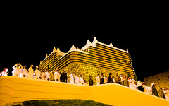 Audience (CristalArt) Tags: old red people white black green colors yellow festival stone digital photoshop canon lens photography raw dress angle traditional wide structures super east experience saudi gathering format middle riyadh 1022mm cultural ksa jenadrya