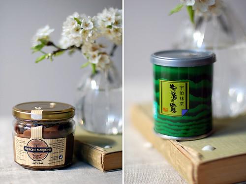 crème de marrons & Uji matcha