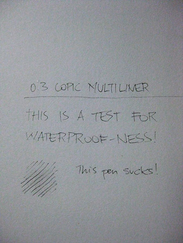 Copic Multiliner waterproof-ness