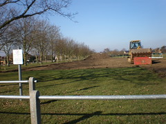 Haddenham Rec Ground waiting for the sub soil