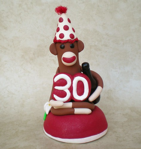 30th Birthday Monkey Cake Topper