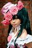 Ciel from Kuroshitsuji cosplay at the Seoul Korea comic world convention (Derekwin) Tags: pink portrait anime flower brick green hat zeiss hair costume nikon comic cosplay korea ciel korean seoul gangnam zf yangjae 85f14 d700 nikond700 zeiss85f14zf