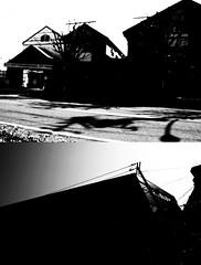 btiments (chihilo) Tags: road light shadow sky bw house building japan canon store magasin ombre ciel lumiere  maison rue    japon  batiment  machida    btiments