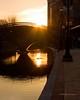 Sunset on Carroll Creek (gotbob) Tags: sunset sun reflection water silhouette clouds creek canon ducks romance carroll slidr frednet