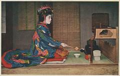 Tayuu performing tea ceremony (noel43) Tags: japan japanese district prostitute prostitution redlight pleasure courtesan yoshiwara oiran tayu tayuu kamuro