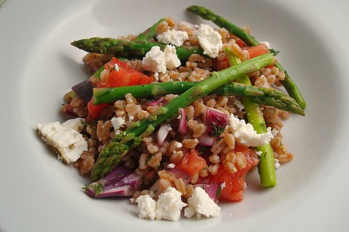 Farro Salad with Asparagus, Tomatoes, and Feta